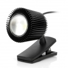 UY001 USB 1W 100lm 1-LED Clip-On Night Light - Black (DC 5V)