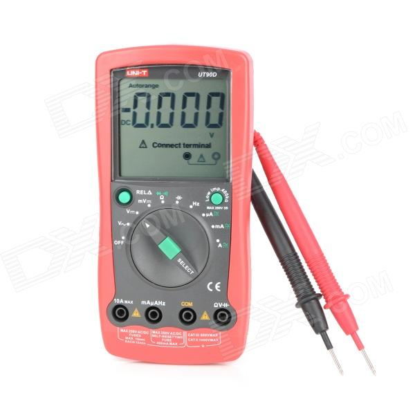 UNI-T UT90D 3.1 LCD Digital Multimeter - Red + Grey (1 x 9V) pro skit mt 1210 2 0 lcd digital multimeter blue deep grey 1 x 9v battery