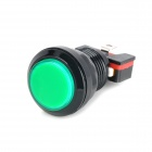 Plastic Power Control Push Button Switch for Electric DIY - Black + Green
