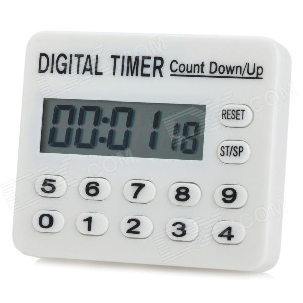 "Mini 1.7 ""LCD Digital Electronic Timer - Blanco (1 x AAA)"