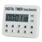 "Mini 1.7"" LCD Digital Electronic Timer - White (1 x AAA)"