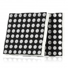 8 x 8 Red LED Display Common Anode Dot Matrix Module - Black + White (2 PCS)