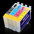 Printer Continuous Ink Supply System Refillable Inkjet Cartridge - Black + Yellow + Cyan + Magenta