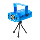 4 Styles-in-1 30mW Green + 80mW Red Laser Stage Lighting Projector w/ Tripod - Blue (AC 100~240V)