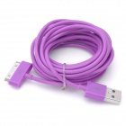 USB Charging / Data Transmission Cable for iPhone / iPad - Purple (3m)