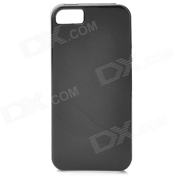 Fashion Protective Silicone Back Case for Iphone 5 - Black