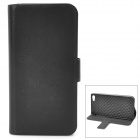 Fashion Protective PU Leather Flip-Open Case w/ Magnet for Iphone 5 - Black