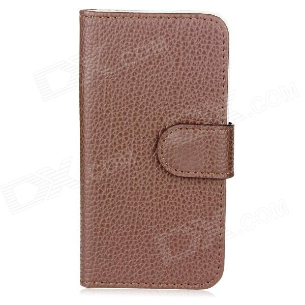 New Protective Folding PU Leather Cover Case for Iphone 5 - Brown one piece 1x brand new high quality silicon protective skin case cover for xbox 360 remote controller blue green mix color