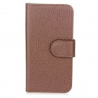 New Protective Folding PU Leather Cover Case for Iphone 5 - Brown