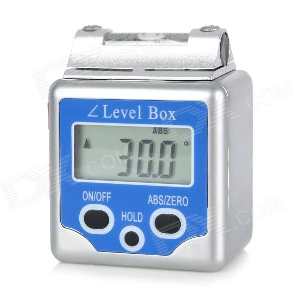 A1-2 Digital Level Box Level Angle Gauge Protractor - Blue (2 x CR2032) 0 225 degree digital angle level meter gauge 400mm 16inch electronic protractor free shipping