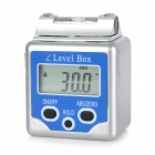 A1-2 Digital Level Box Level Angle Gauge Protractor - Blue (2 x CR3032)