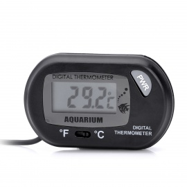 Waterproof Aquarium Digital Water Thermometer w/ Remote Sensor - Black