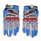 Motorcycle / Bicycle Protection Full-finger Gloves - Blue + Black