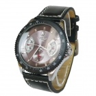 Back Transparent Full Automatic Mechanical Wristwatch w/ Calendar for Men