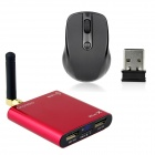 AD10 Android 4.0 1080P Android TV Player w/ Wi-Fi / TF / HDMI / 2 x USB - Red (1GB RAM / 4GB ROM)