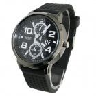 Fashion Big Dial Quartz Wristwatch for Men - Black (1 x 377 Battery)