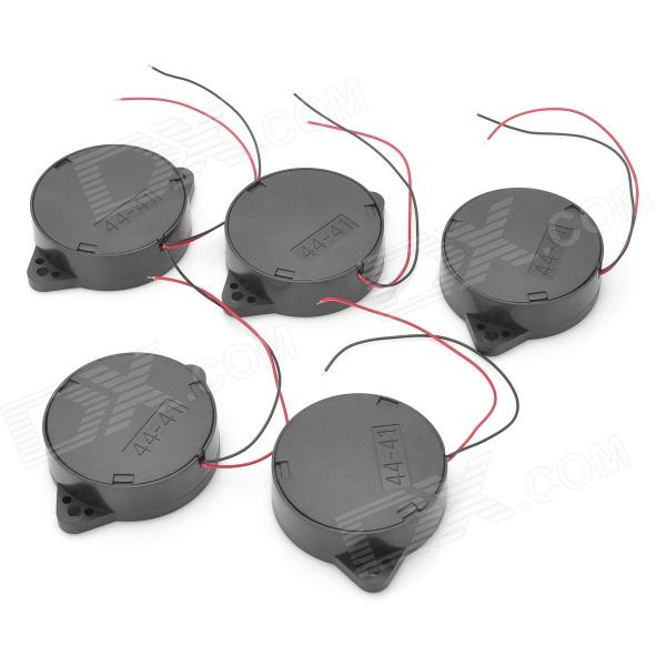 QSR-4410B Active Buzzers - Black (DC 12V / 5 PCS) 2 receivers 60 buzzers wireless restaurant buzzer caller table call calling button waiter pager system