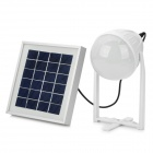 15W Solar Power 15-LED Lamp +2200mAh Emergency Battery Pack - White