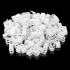 R-Type Plastic 8.4mm Cable Clips - White (100 PCS)