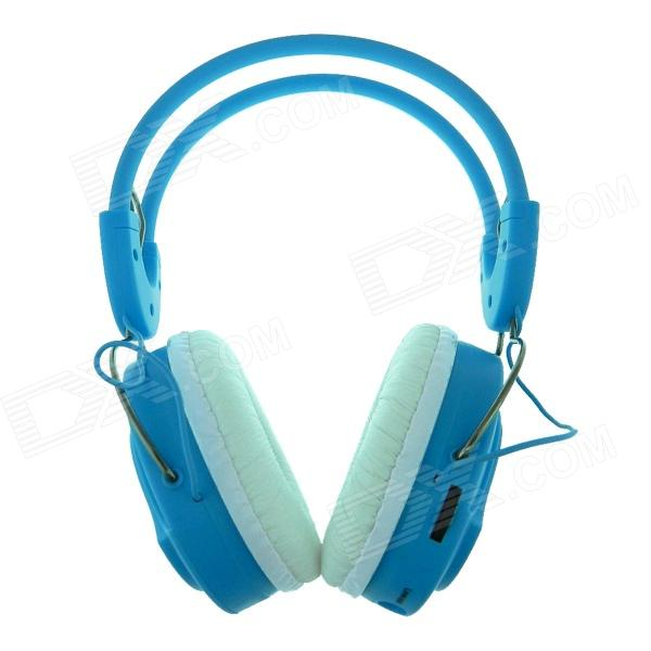 BQ-268 USB Rechargeable Wireless Headphone with TF / FM / 3.5mm Jack - Blue