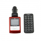 "1.44"" LCD Car MP3 Player FM Transmitter w/ Remote Controller / USB / SD / TF - Red (12~24V)"