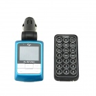 "1.44"" LCD Car MP3 Player FM Transmitter w/ Remote Controller / USB / SD / TF - Blue (12~24V)"