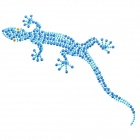 DIY Gecko Style Car / Motorcycle Decorative Sticker - Blue (2 PCS)