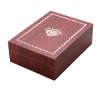 PVC Woody Rectangle Cufflinks Box - Dark Red
