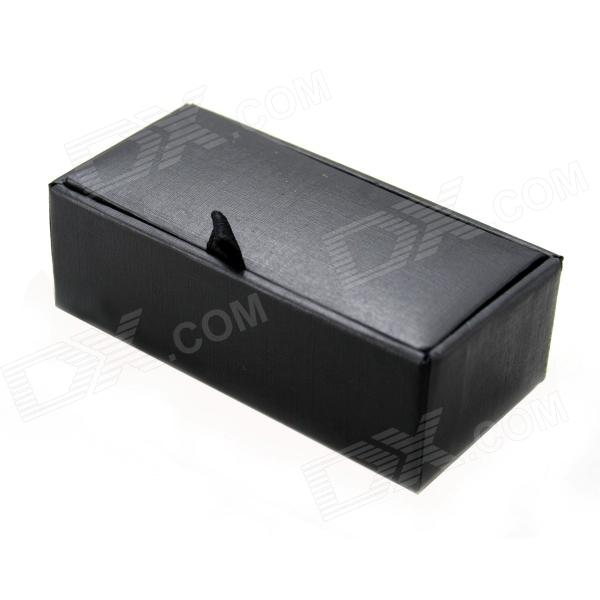 PU Leather Surface Paperboard Box for Cufflinks - Black