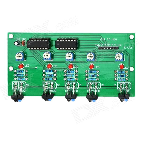 5-Channel White Black Cable Tracking Sensor Module for Arduino (Works with Official Arduino Boards)
