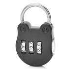 CJSJ CR-15B Mini Alloy Password Code Lock - Black + Silver