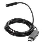 Water Resistant USB 2.0 CMOS 4-LED Snake Camera Endoscope - Black (2m)