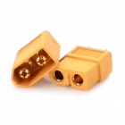 XT60 Male to Female Bullet Connectors Plugs - Yellow (2 PCS)