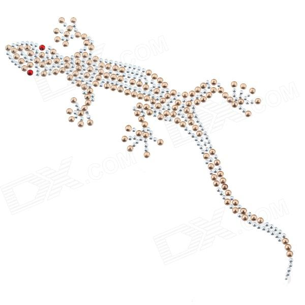 DIY Gecko Style Car / Motorcycle Decorative Sticker - Silver + Beige (2 PCS)