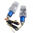 DIY Motorcycle Decoration 1.2W 15-LED Yellow Steering Lights - Blue + White (12V / 2 PCS)
