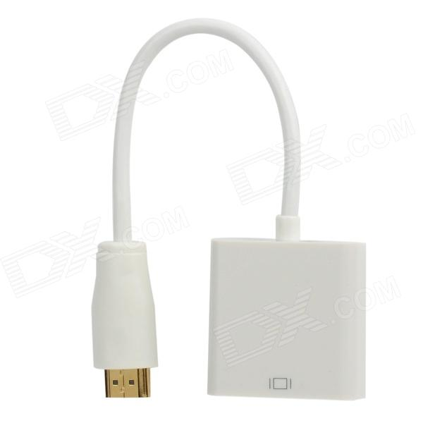 HDMI V1.4 Male to VGA Female Adapter - White (14.5cm-Cable)