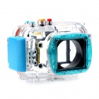 Meikon-24 Waterproof PC Camera Housing Case for Nikon V1 w/ 10mm Lens - Transparent + Blue