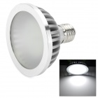 E27 7W 5000K 600lm 70-LED White Light Bulb - Silver + White (AC 110-220V)
