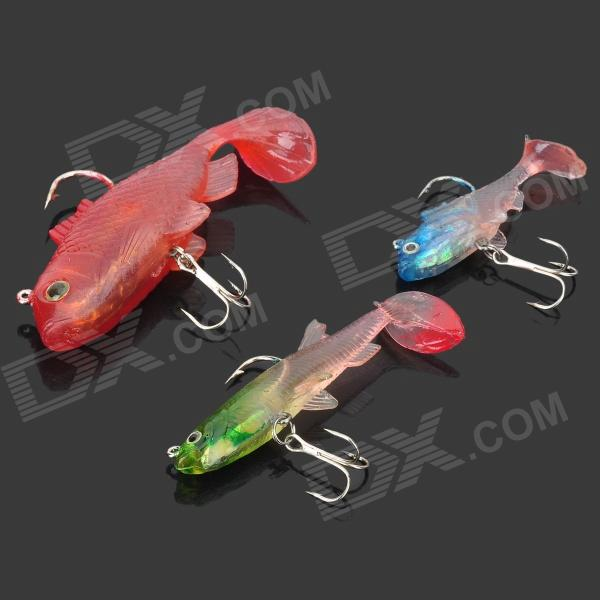 Lifelike Fish Style Fishing Baits with Hooks (3 PCS)