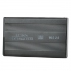 "2.5"" USB 2.0 External Mobile SATA Hard Drive Disk Case Enclosure - Black (Max. 1TB)"