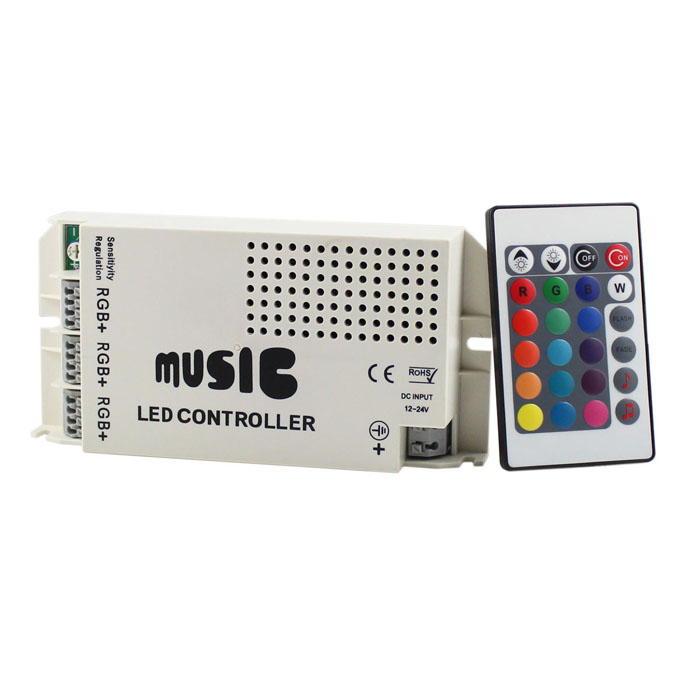 12V 60W Music Controller para LED RGB Light Strip - Branco