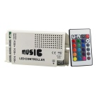 12V 60W Music Controller for LED RGB Light Strip - Black