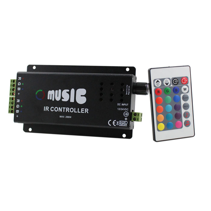 Voice Controlled LED RGB Light Strip Controller - Black - Worldwide ...