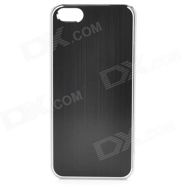 Fashion Protective Aluminum Alloy Back Case for Iphone 5 - Black