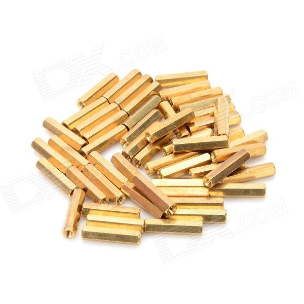 M3 x 20mm Cilindro de latón hexagonal - Golden (50 PCS)