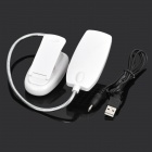 USB / 3 x AAA Powered 28-LED Clip-on Flexible Neck White Light Lamp - White (DC 5V)