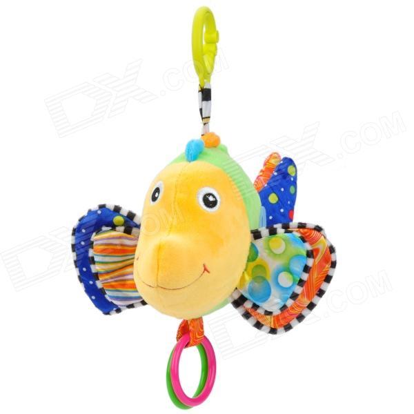 Clownfish Style Fiber Polyester Music Doll w/ Plastic Ring - Yellow + Green