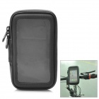 Water Resistant Bicycle Protective Handlebar Bag Pouch for Iphone 4 / 4S - Black