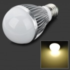 E27 5W 4000K 270lm 10-LED Warm White Light Bulb - Silver (AC 85~265V)