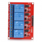 5V 4 Channel High Level Trigger Relay Module for Arduino - Red